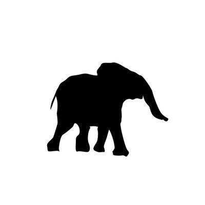 Наклейка Силуэт слоненка