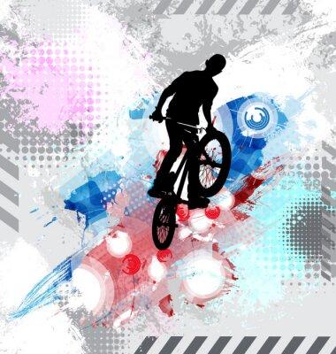 Наклейка Силуэт велосипедиста.