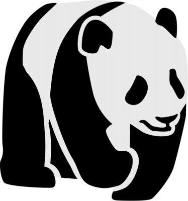 Наклейка Силуэт панды