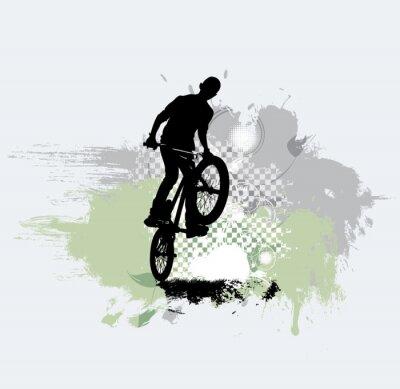 Наклейка Силуэт велосипедного джемпера