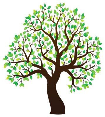 Наклейка Силуэт лиственных деревьев тему 1