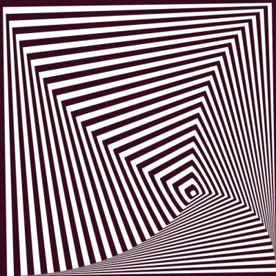 Наклейка простой абстрактный фон полосатый пирамидальный. оптическая иллюзия т