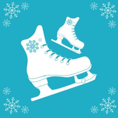 Наклейка Катание на коньках значок дизайн