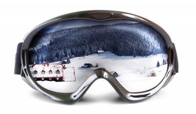 Наклейка Лыжные очки