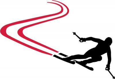 Наклейка Лыжная трасса с Красной дорожки