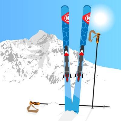 Наклейка Лыжный унд Сноуборд отдых 01