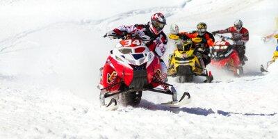 Наклейка снегоход гонки