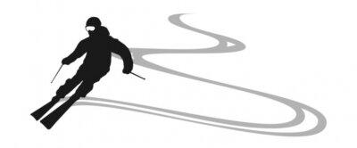 Наклейка лыжник