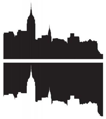 Наклейка Skyline Нью-Йорка