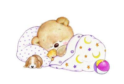 Наклейка Спящая Мишка