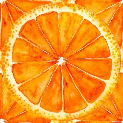 Наклейка нарезанный апельсин или грейпфрут