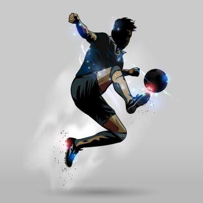 Наклейка Футбол прыжки с сенсорным мяч 02