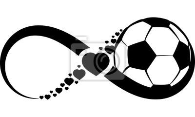 Наклейка Футбол Футбол Любовь или бесконечность