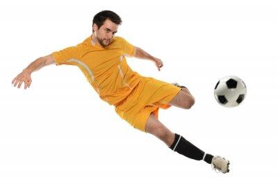 Наклейка Футболист в действии