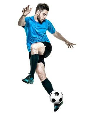Наклейка Футболист Человек Изолированные