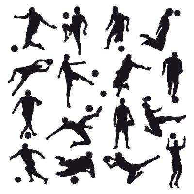Наклейка Футбол Силуэты