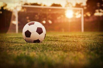 Наклейка Футбол закат