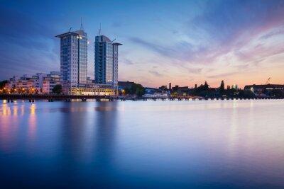 Наклейка Закат на реке Шпрее в Берлине