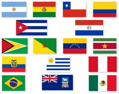 Наклейка Южная Американский флаг Set