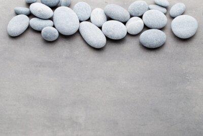 Наклейка Спа камни лечение сцены, как дзен понятий.