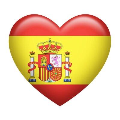 Наклейка Spanish Insignia Heart Shape
