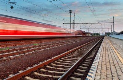 Наклейка Скорость поезда на станции