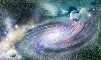 Наклейка Спиральная галактика во Вселенной