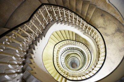 Наклейка Спиральная лестница в интерьере высотного здания