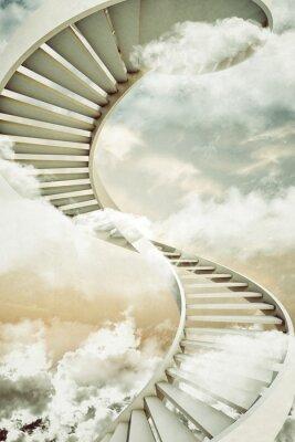 Наклейка винтовые лестницы