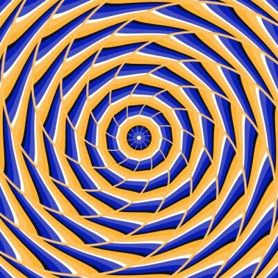 Наклейка Спираль скручивание до центра. Абстрактные векторные фон оптическая иллюзия.