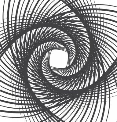 Наклейка спираль водоворот абстрактный фон черно-белый