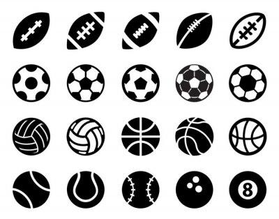 Наклейка Спортивные мячи