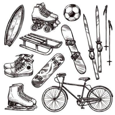 Наклейка Спортивное оборудование Set