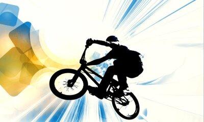 Наклейка Sport illustration of bmx rider