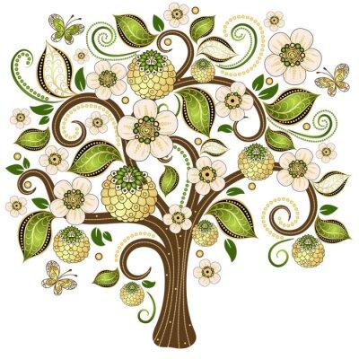Наклейка Весна декоративных деревьев