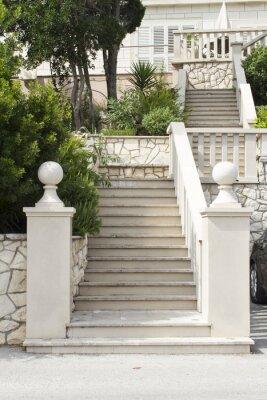 Наклейка Лестницы на острове Корчула, Хорватия