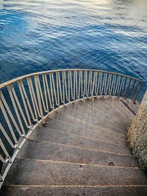 Наклейка Лестница вниз, к воде