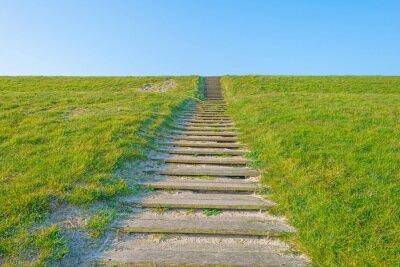 Наклейка Лестница на дамбе в солнечном свете