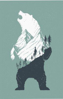 Наклейка Стоячий медведь