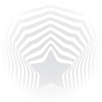 Наклейка Звездные серые полосы оптическая иллюзия визуальное искусство эффект.