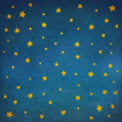 Наклейка Звезды на ночном небе, фон иллюстрации искусство