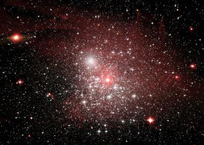 Наклейка Звезды, пыль и газовая туманность в далекой галактике