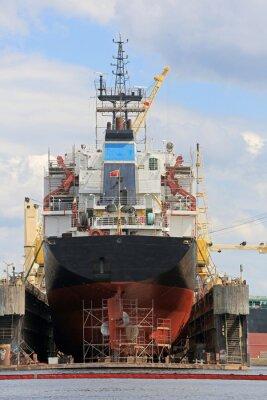 Наклейка Statek на pływającym доку
