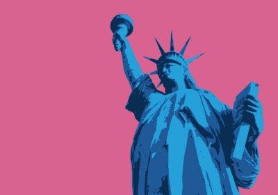 Наклейка Статуя Свободы - Нью-Йорк - символы, Américain - décoration - déco-fond