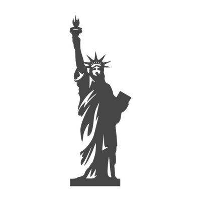Наклейка Значок Статуи Свободы - Иллюстрация
