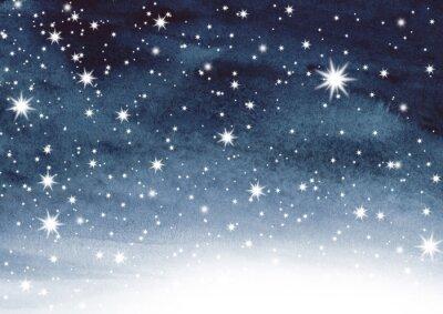Наклейка Звездное небо на акварели