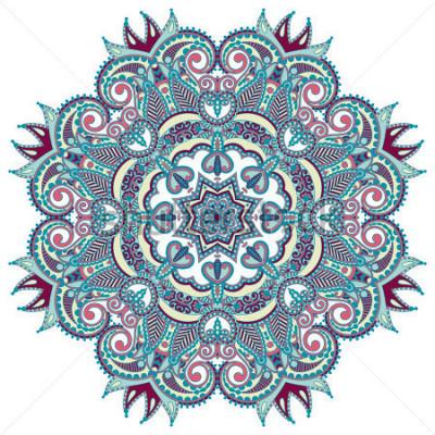 Наклейка Круглый орнамент, декоративные кружевные кружева