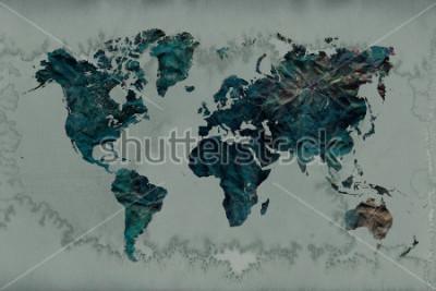 Наклейка урожай фон карты мира