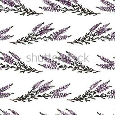 Наклейка Векторные бесшовные модели с рисованной веревкой веток. Красивые цветочные элементы дизайна, идеально подходящие для печати и рисунка.