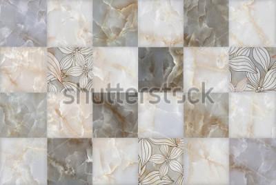 Наклейка Абстрактный мраморный камень блоков шаблон